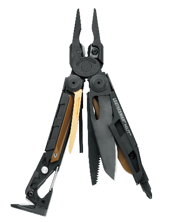 Leatherman MUT multi-tool in stainless steel left side angle