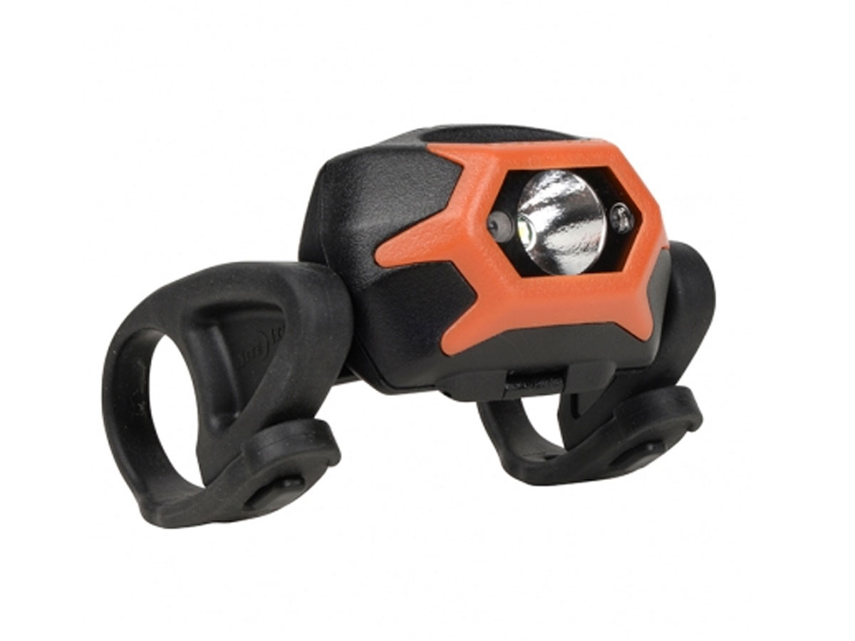 Inova STS bike light in orange right side angle