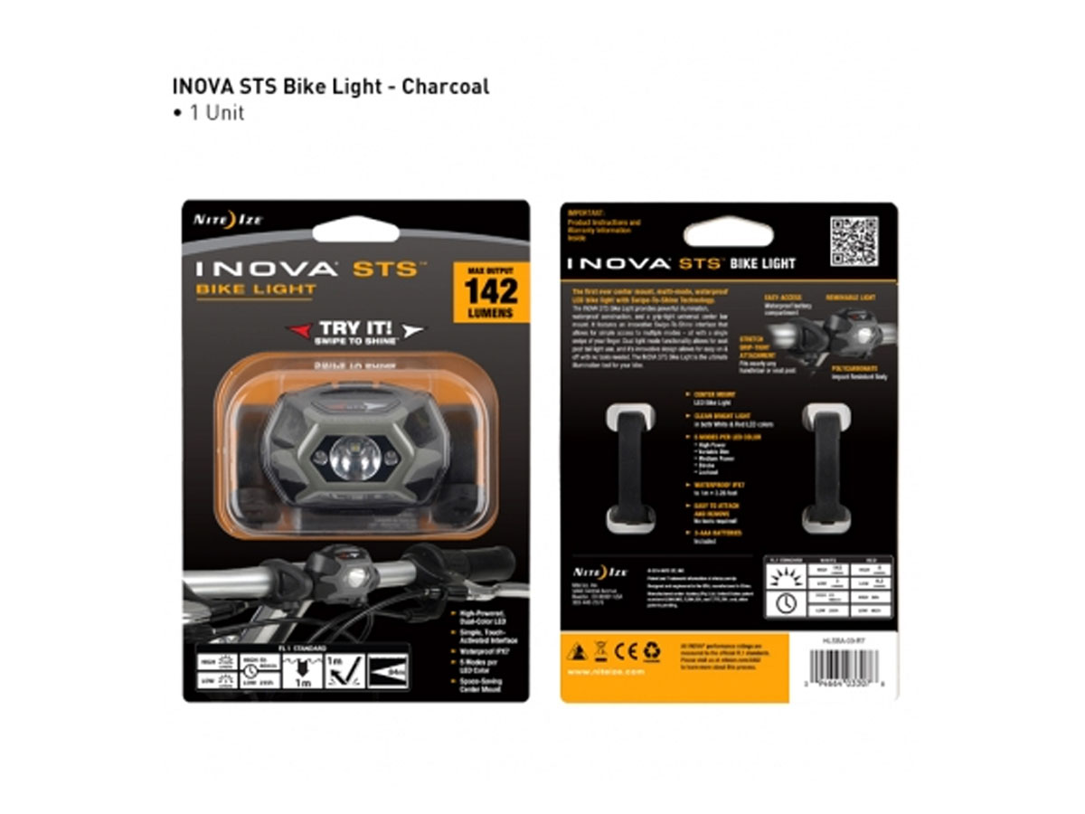 Packaging for Inova STS bike light