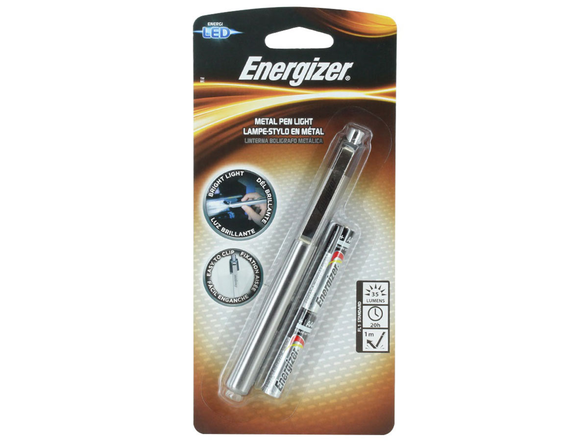 Energizer Metal LED Penlight left side angle