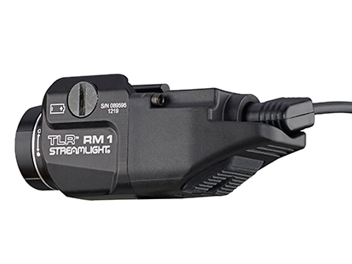 Streamlight TLR RM 1 with remote pressure switch attached