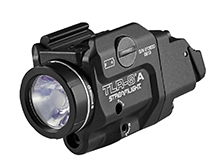 Streamlight TLR-8 A R Low-Profile Rail Mounted Weapon Light with Red Laser and Switch Options - 500 Lumens - Includes 1 x CR123A - 69414