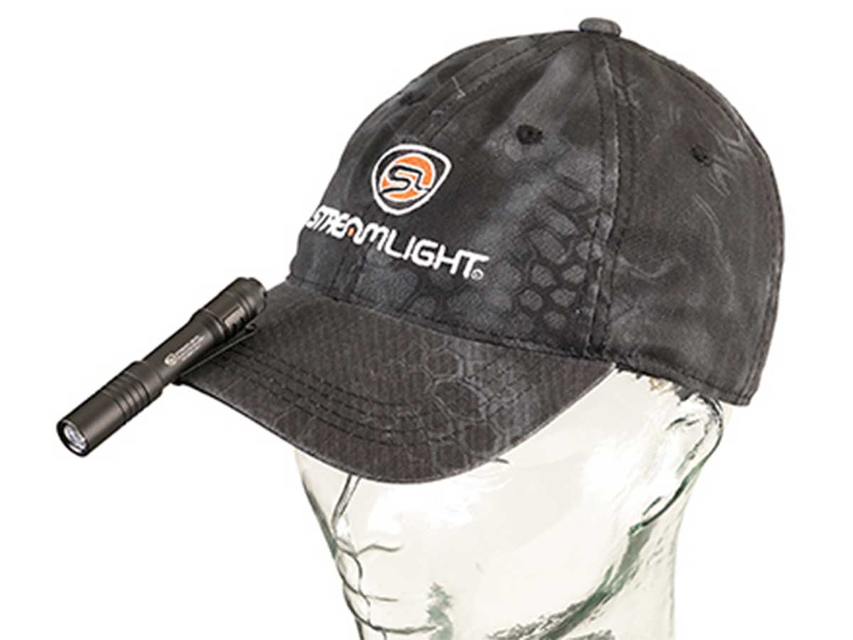View of Streamlight MicroStream on Hat