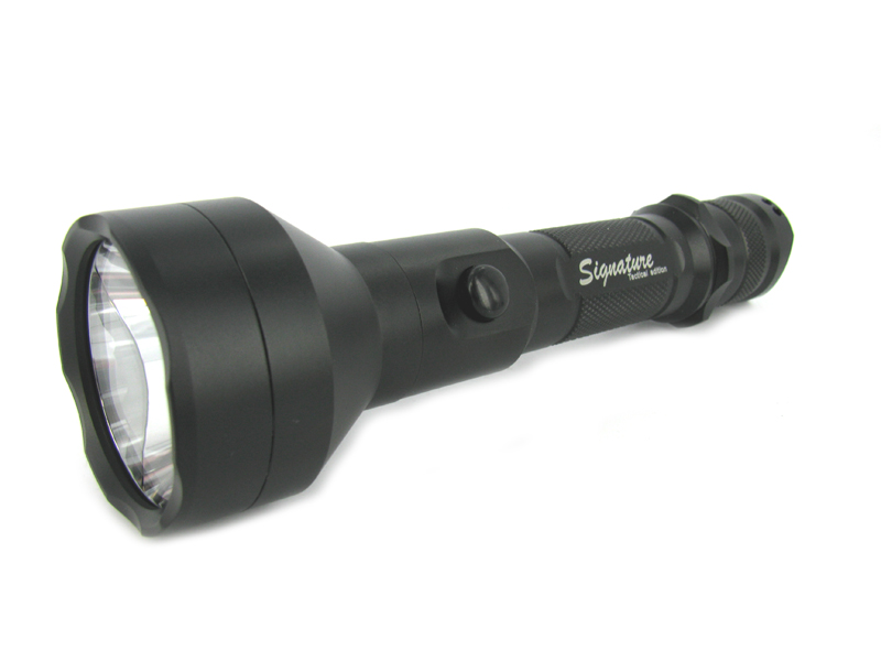Lumapower Signature Tactical VX flashlight left side angle