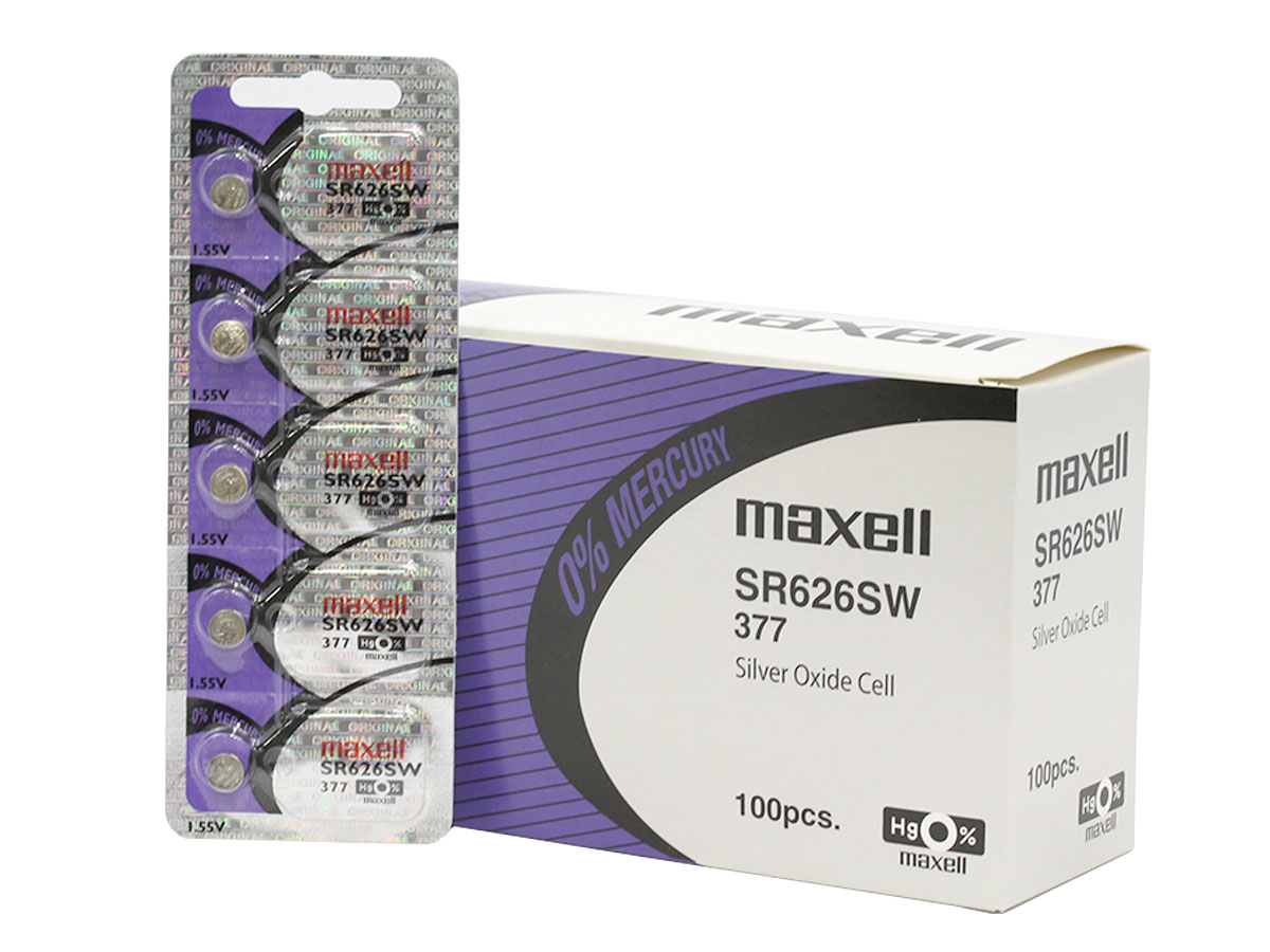 Bulk Box & Sleeve of Maxell 377 batteries