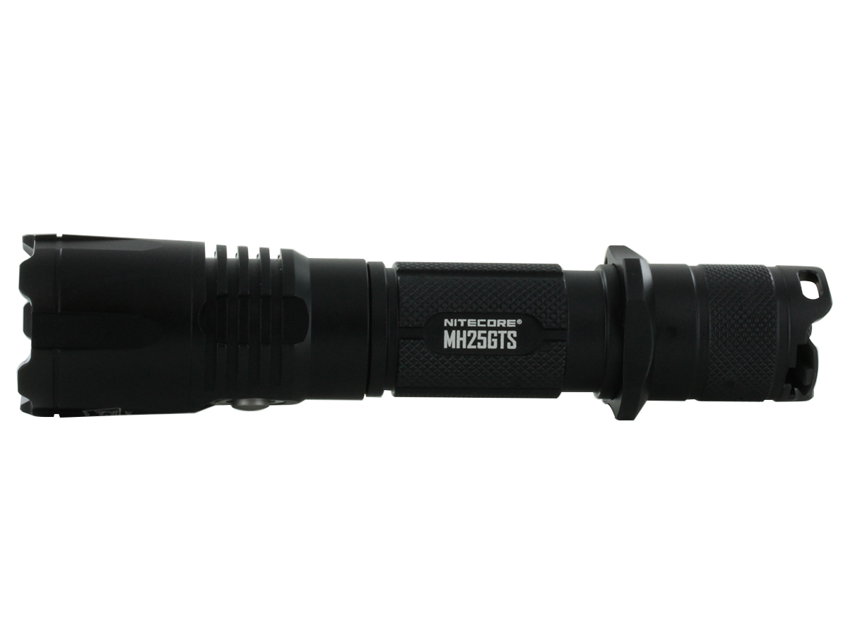 Nitecore MH25GTS LED Flashlight view from rear side