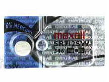 Maxell SR712SW 346 10mAh 1.55V Silver Oxide Button Cell Battery - Hologram Packaging - 1 Piece Tear Strip, Sold Individually