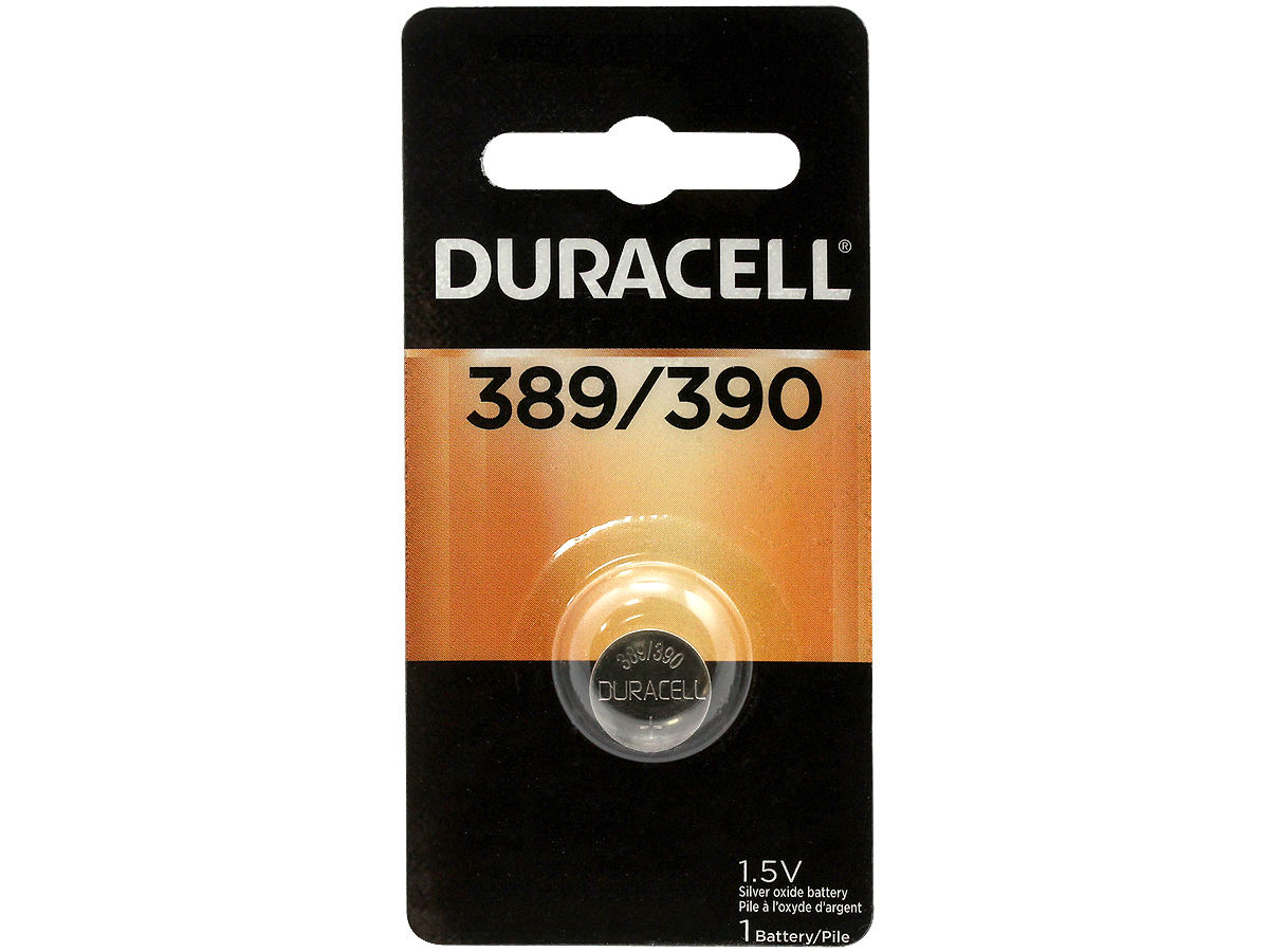 Duracell D389/390 button cell in retail card