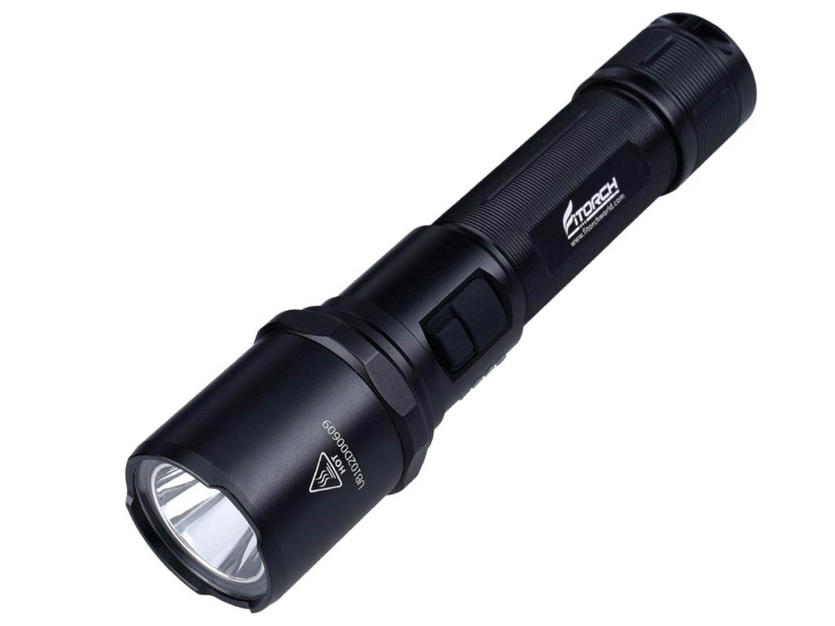 Fitorch MR15 flashlight left side angle