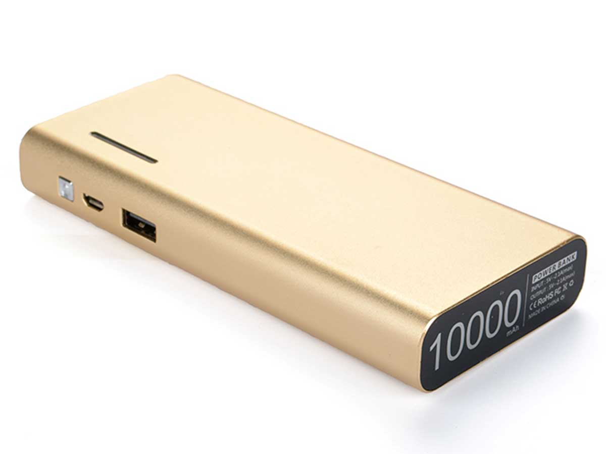 Efest X6 power bank charger in gold back side angle