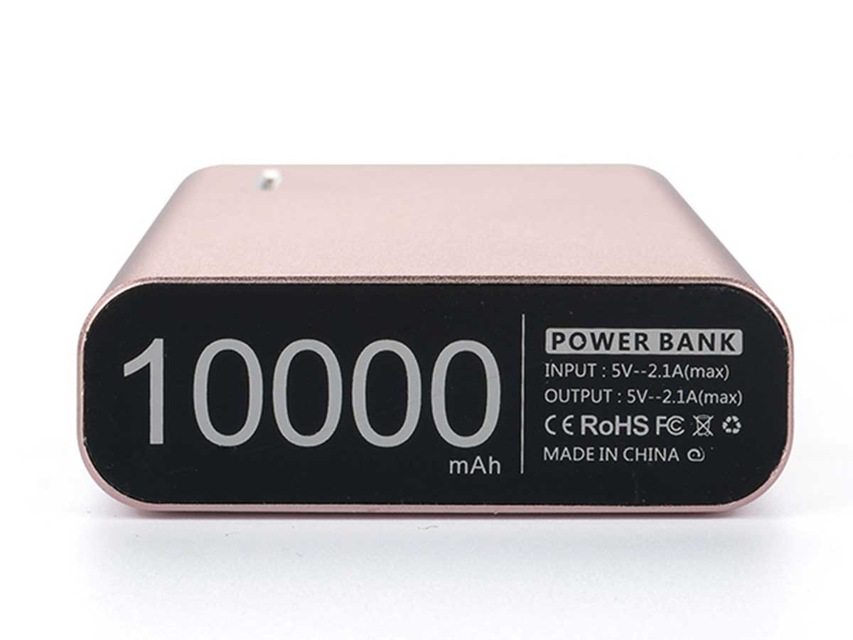 Efest X6 power bank charger in rose gold bottom view