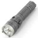 Sunwayman T20CC USB Rechargeable Tri-Color Tactical Flashlight - CREE XM-L2 U3 White LED - Red, Green and UV Outputs - 1000 Lumens - Uses 1 x 18650 or 2 x CR123A - Gray