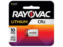 Rayovac Specialty CR2 850mAh 3V Lithium (LiMNO2) Button Top Photo Battery - 1 Piece Retail Card (RLCR2-1G)