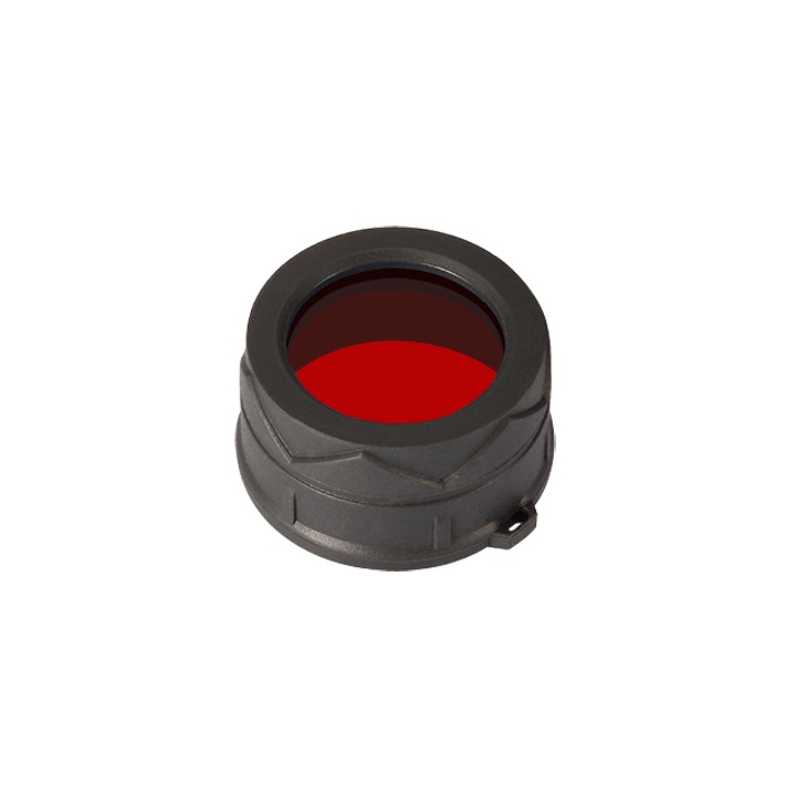 JETBeam MFD38 red filter front view