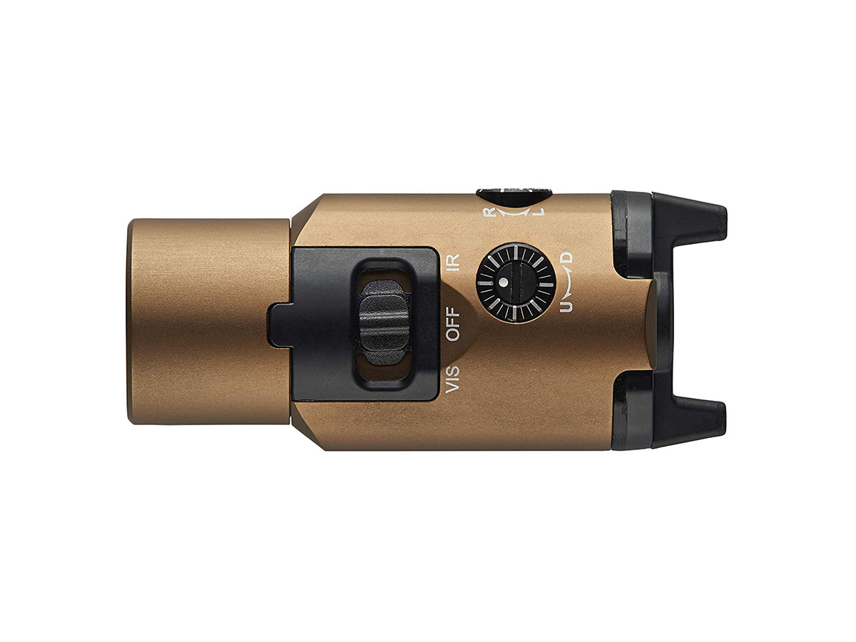 streamlight tlr-vir ii coyote tan, view from the bottom side