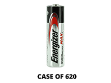 Energizer Max E91 (620PK) AA 1.5V Alkaline Button Top Batteries - Case of 620