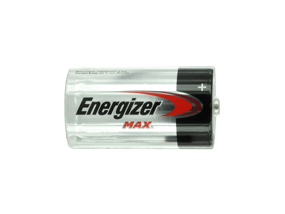 Energizer Max E95 D battery side profile