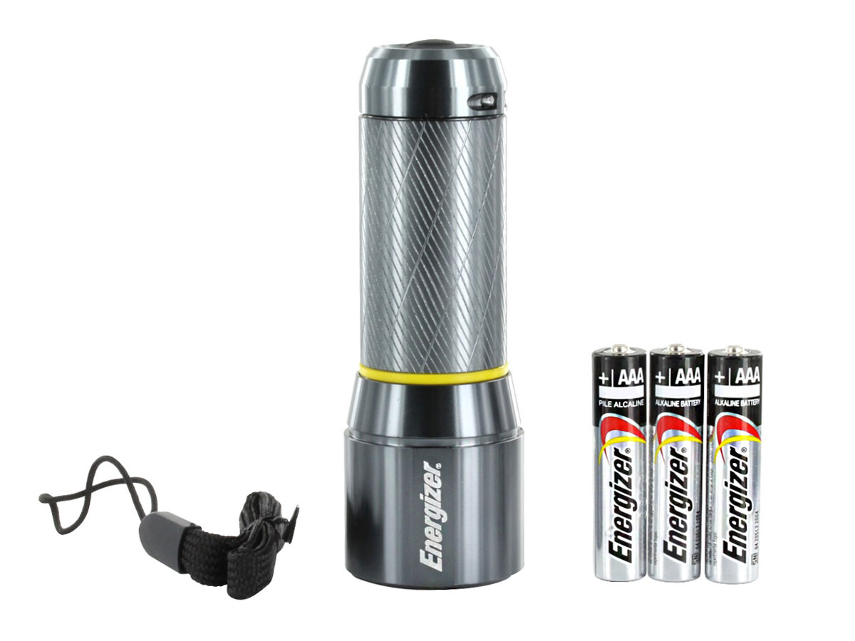 Energizer Vision Metal Flashlight in hand