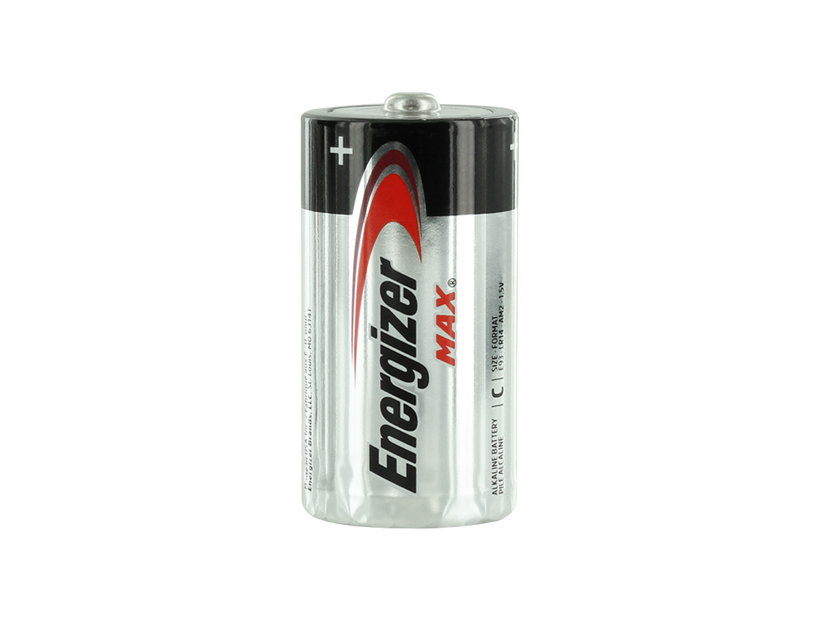 Energizer Max E93 C battery upright