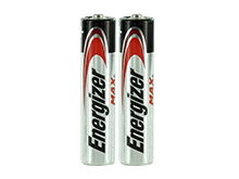 Energizer Max E92 (2SHK) AAA 1.5V Alkaline Button Top Batteries - 2 Pack Shrink Wrap (200 Shrinks per Case)