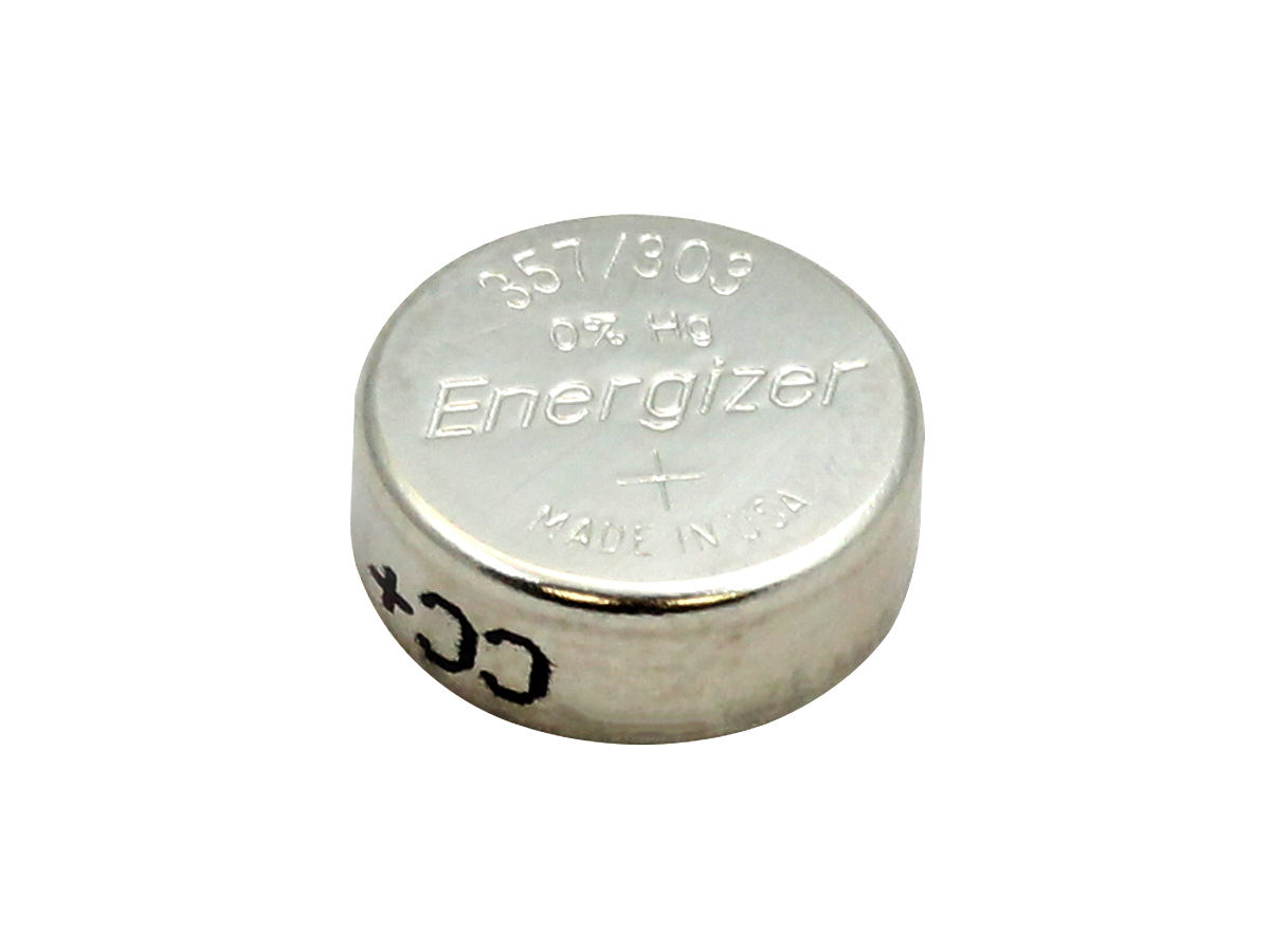 Energizer 357/303 coin cell right side angle