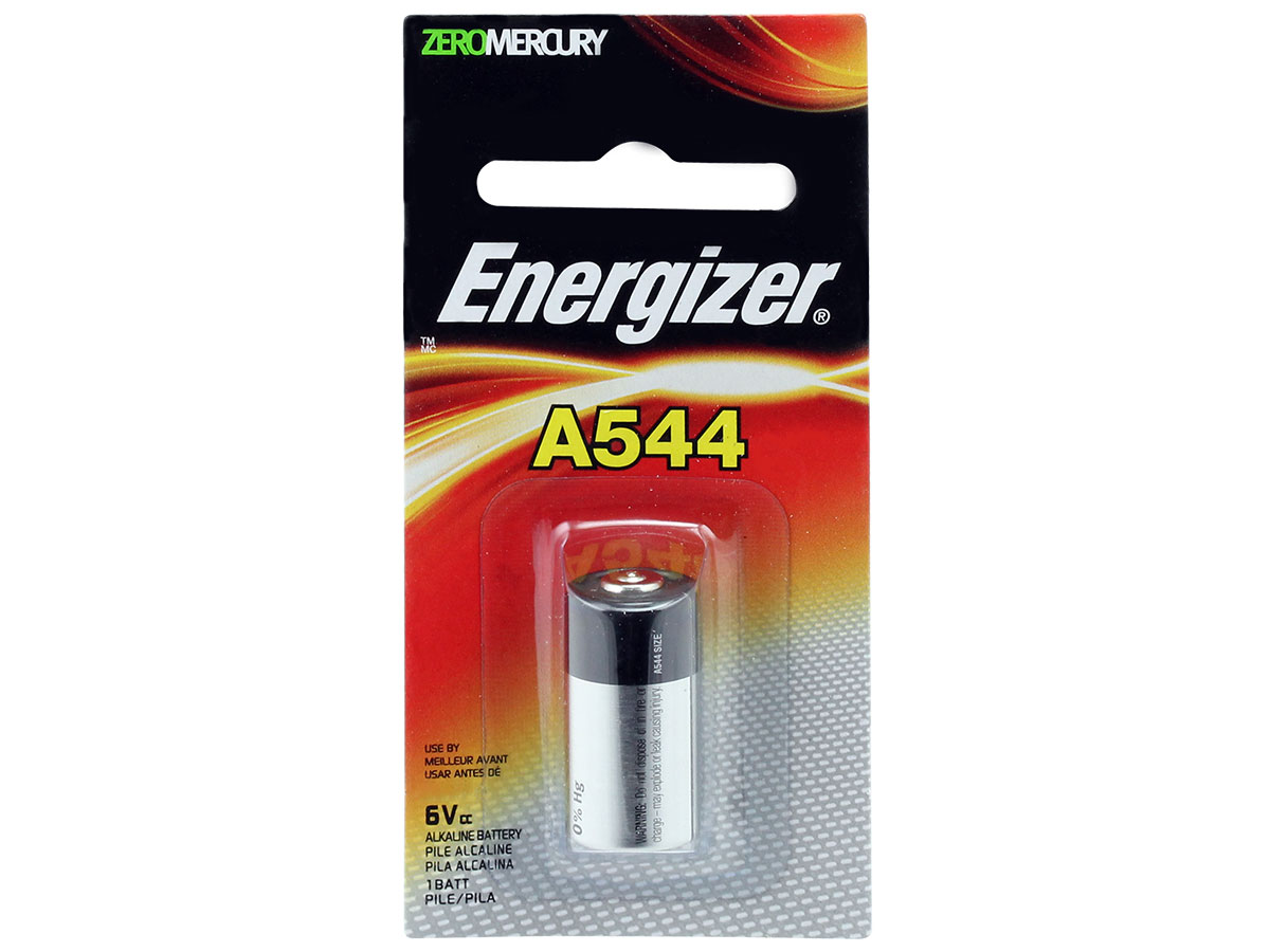 Energizer A544 with Retail Card Packaging