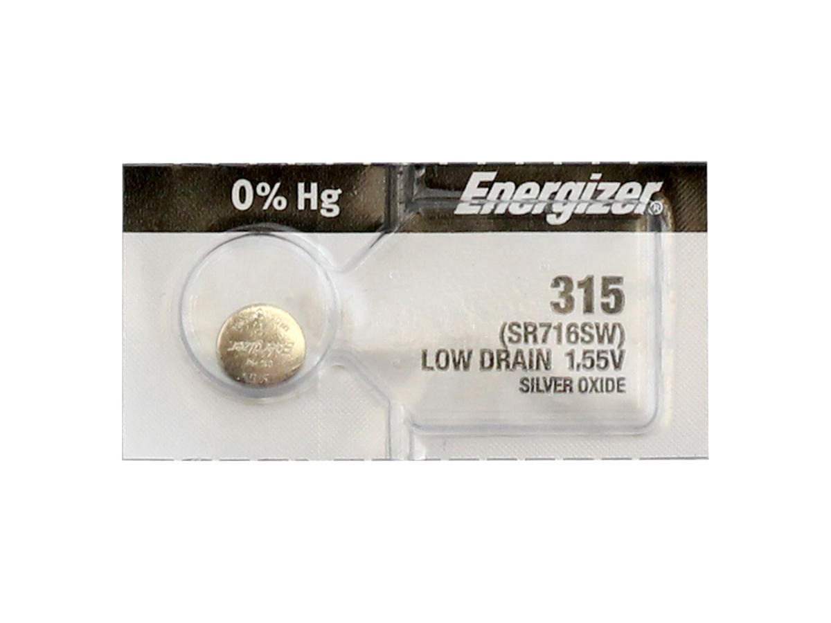 Energizer SR716SW coin cell in retail card