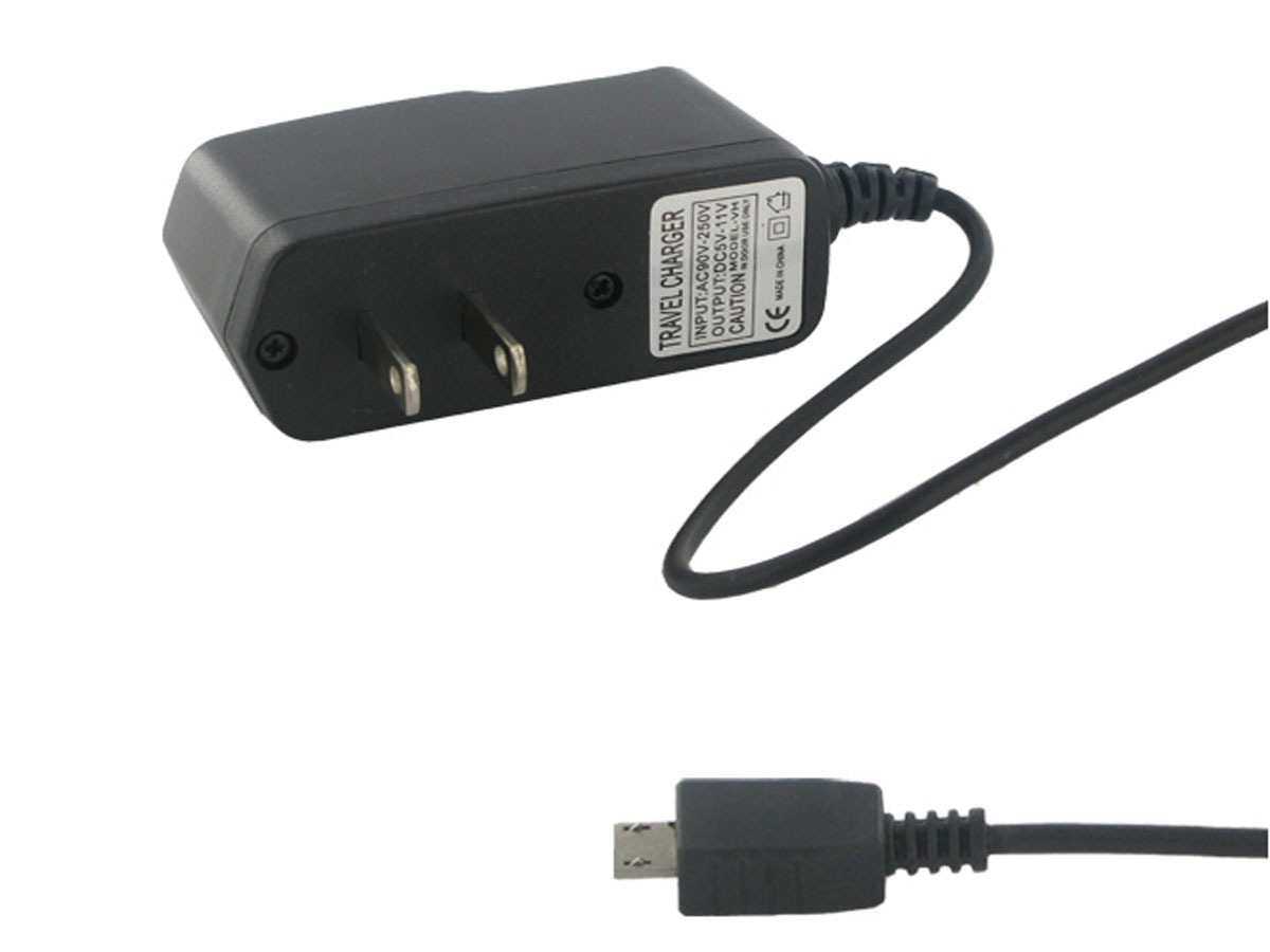 Empire 120V AC wall charger left side angle