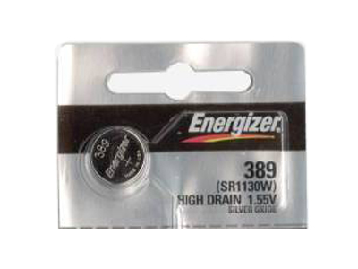 Energizer 389/390 coin cell in 1 piece tear strip packaging