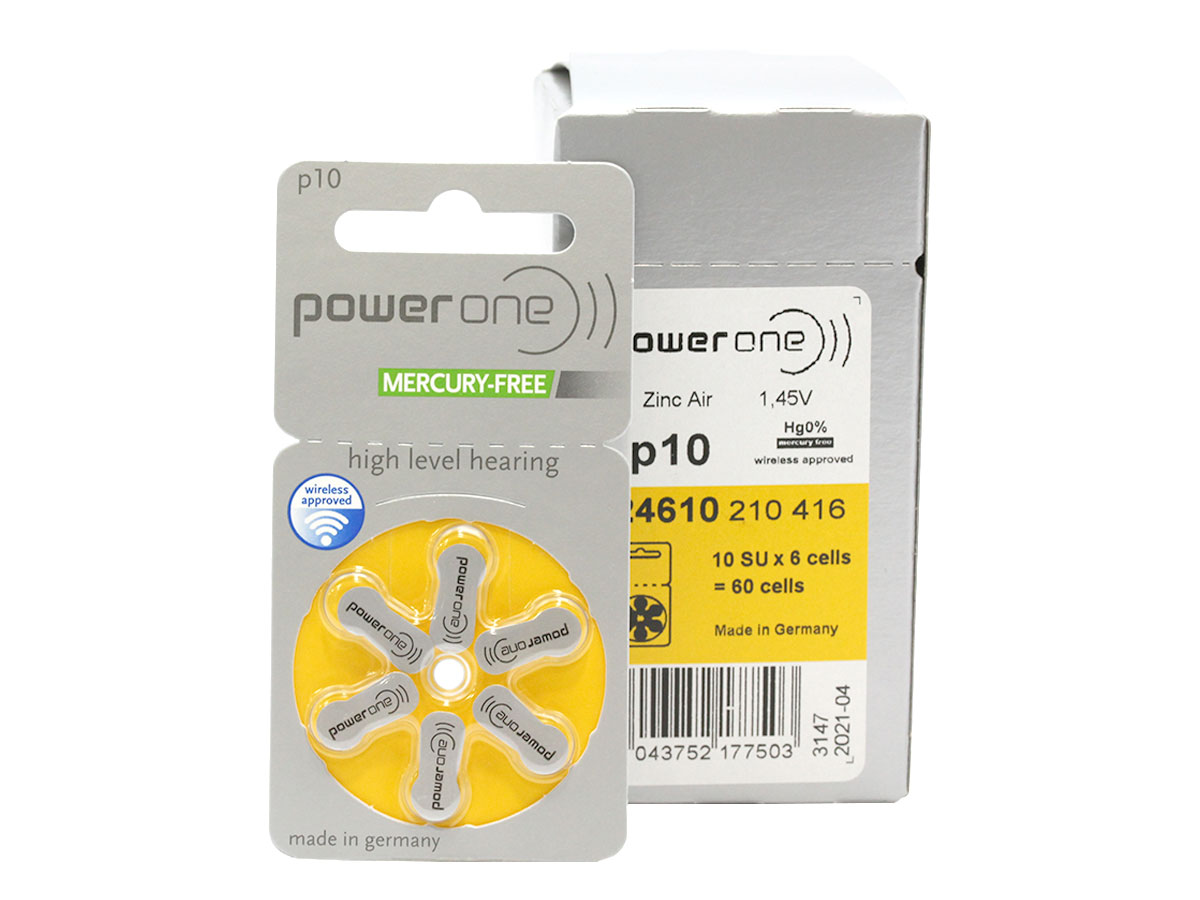 Retail and shipping package of Powerone P10 batteries