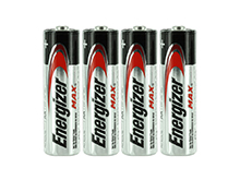 Energizer Max E91 (4SHK) AA 1.5V Alkaline Button Top Batteries - 4 Pack Shrink Wrap
