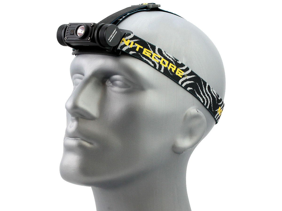 Angle Shot of the Nitecore HC60 USB Rechargeable Headlamp