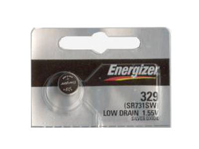 Energizer SR731SW coin cell is tear strip packaging