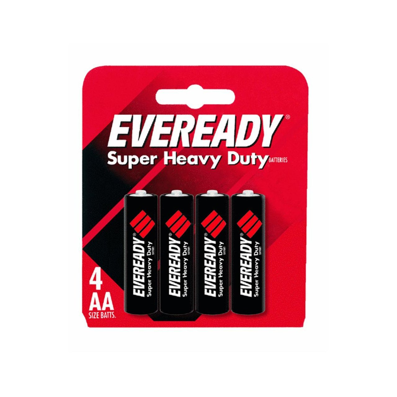 4 Energizer Eveready AA batteries in retail card