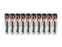 Energizer Max E92 (10SHK) AAA 1.5V Alkaline Button Top Batteries - 10 Pack Shrink Wrap