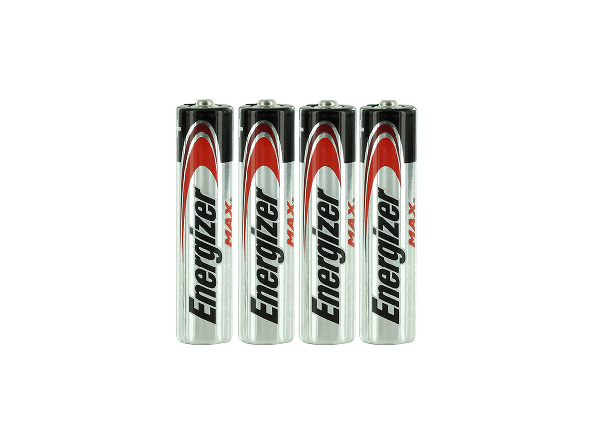 E92 AAA Batteries Shrink-Wrapped in Sets of 4