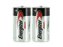 Energizer Max E93 (2SHK) C-cell 1.5V Alkaline Button Top Batteries - 2 Pack Shrink Wrap