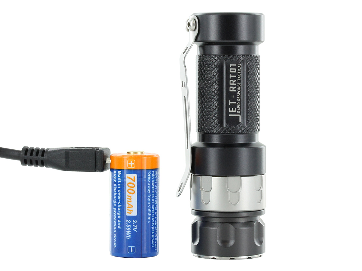 jetbeam jet rrt-01 with included battery charging