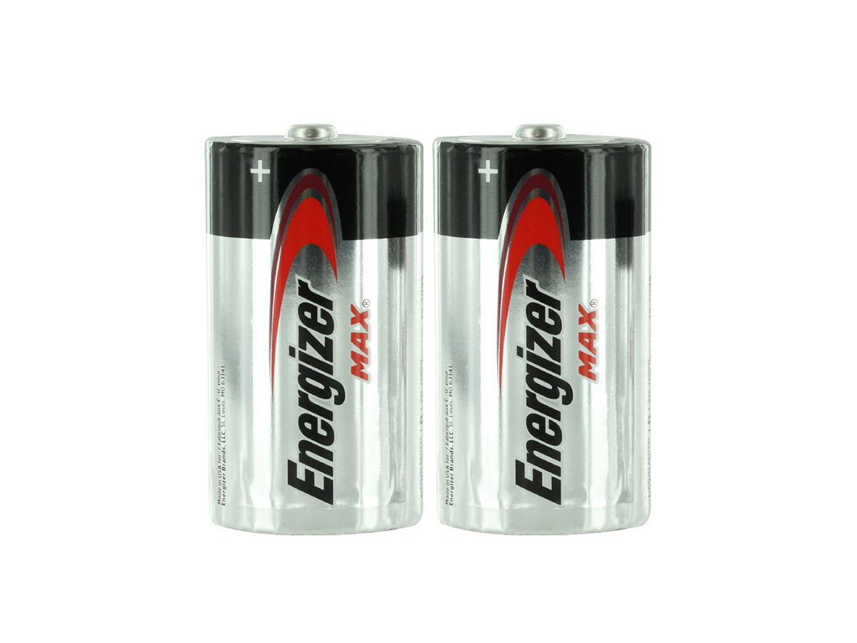 E95 D Batteries Shrink-Wrapped in Sets of 2
