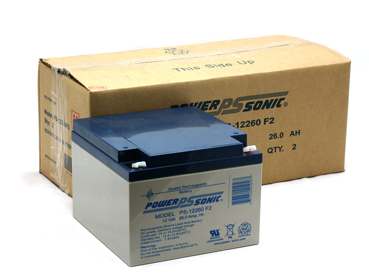 F2 Terminals Power-Sonic PS-1290 12 Volt 9 Amp Hour Rechargeable SLA Battery