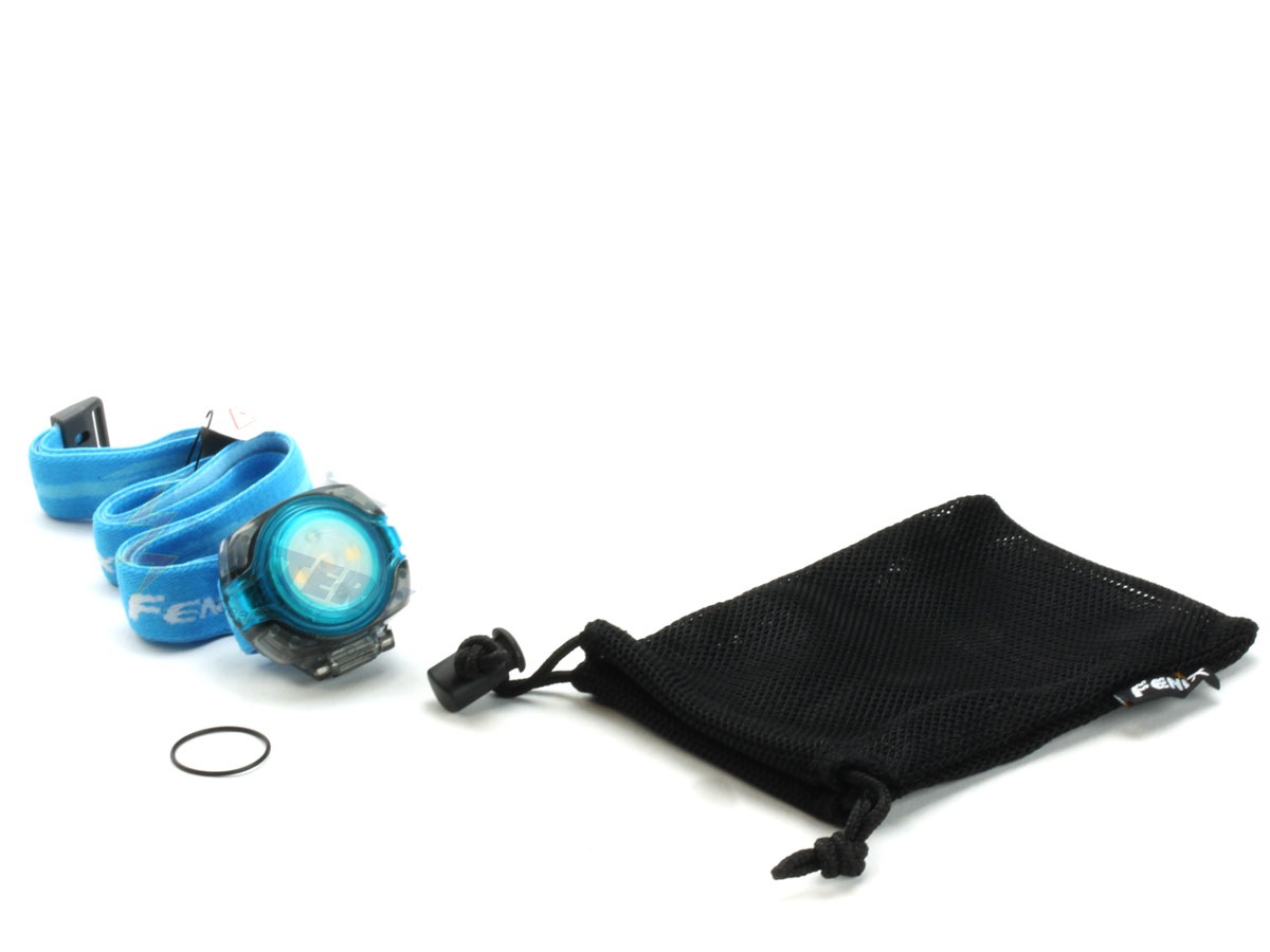 Fenix HL05 headlamp in blue with accessories