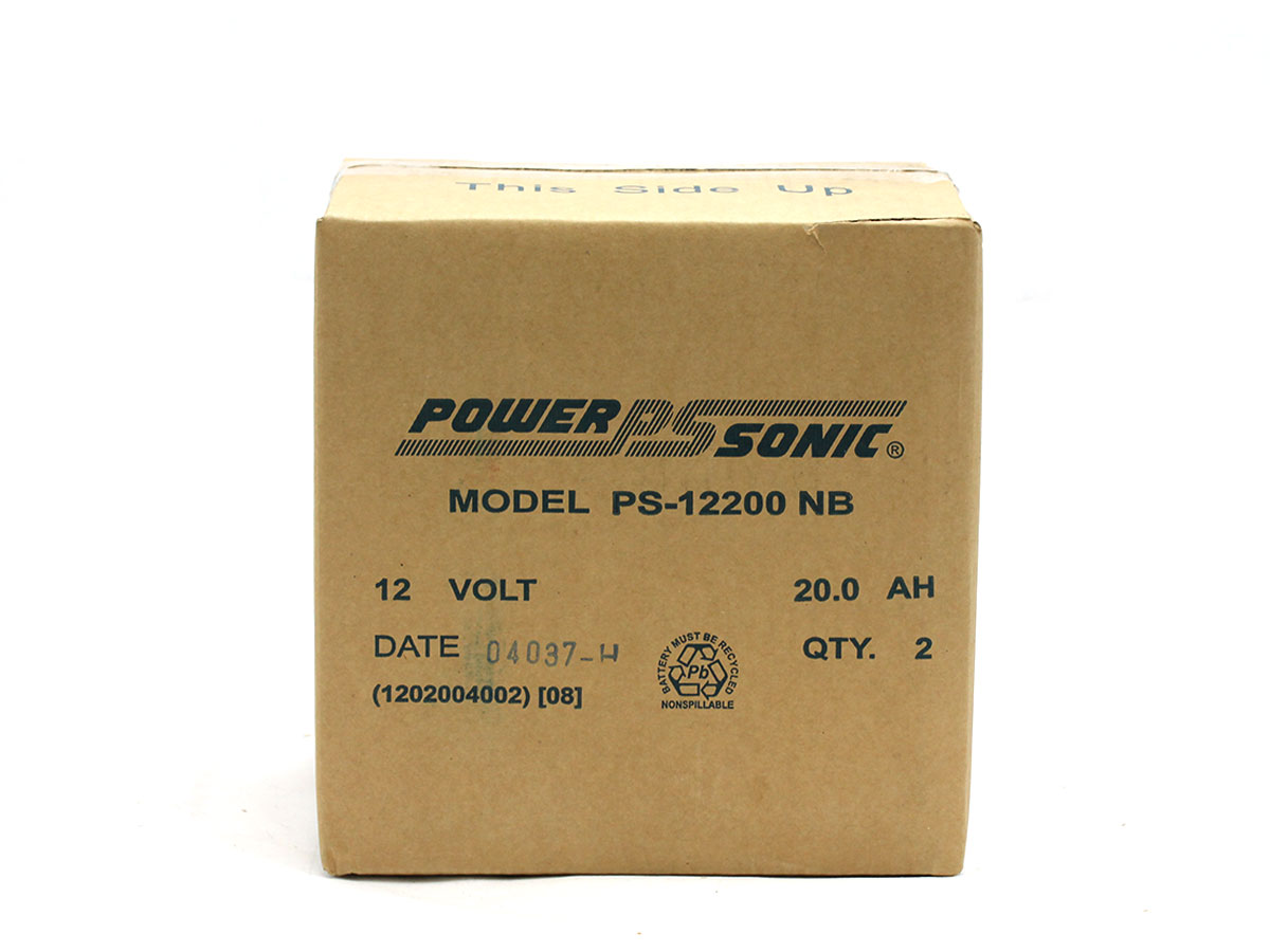 Bulk packaging for Powersonic PS-12200 lead acid battery
