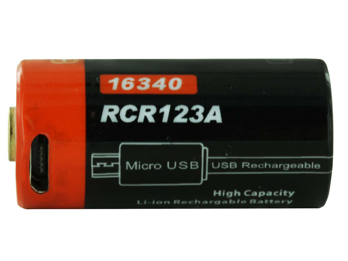 FiTorch RC650 16340 Battery Side View