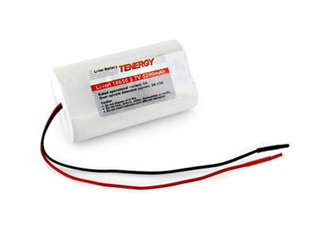 The Tenergy 31001 battery pack with 5200mAh capacity