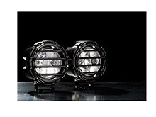 GoLight GXL LED Off-Road Light Fixed / Permanent Mount - No Remote - Fixed Mount Dual Light Kit - Black (42112)