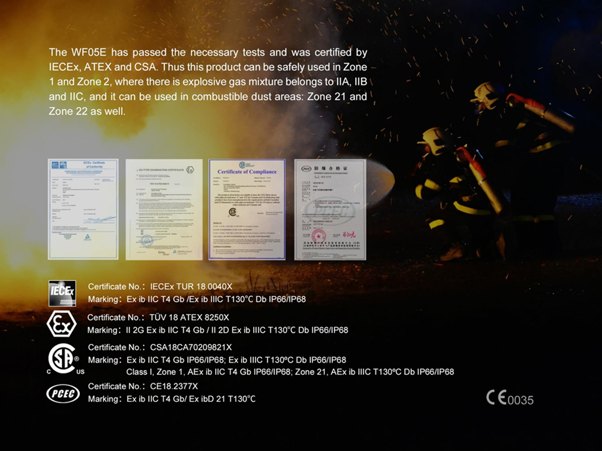 Fenix WF05E certifications slide