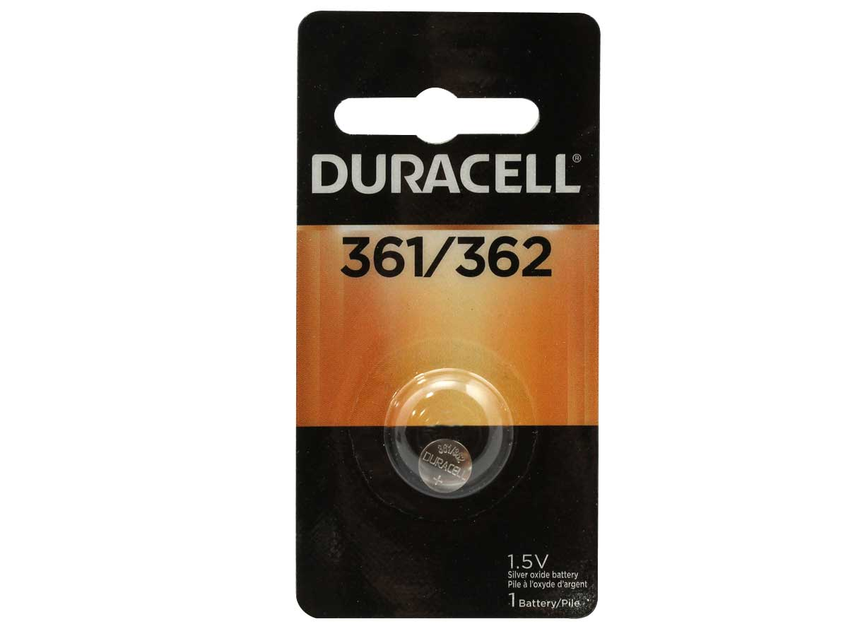 Duracell D361/326 button cell in retail card