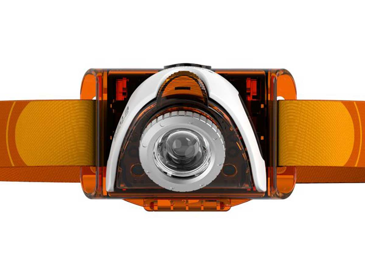 Orange headlamp with LED