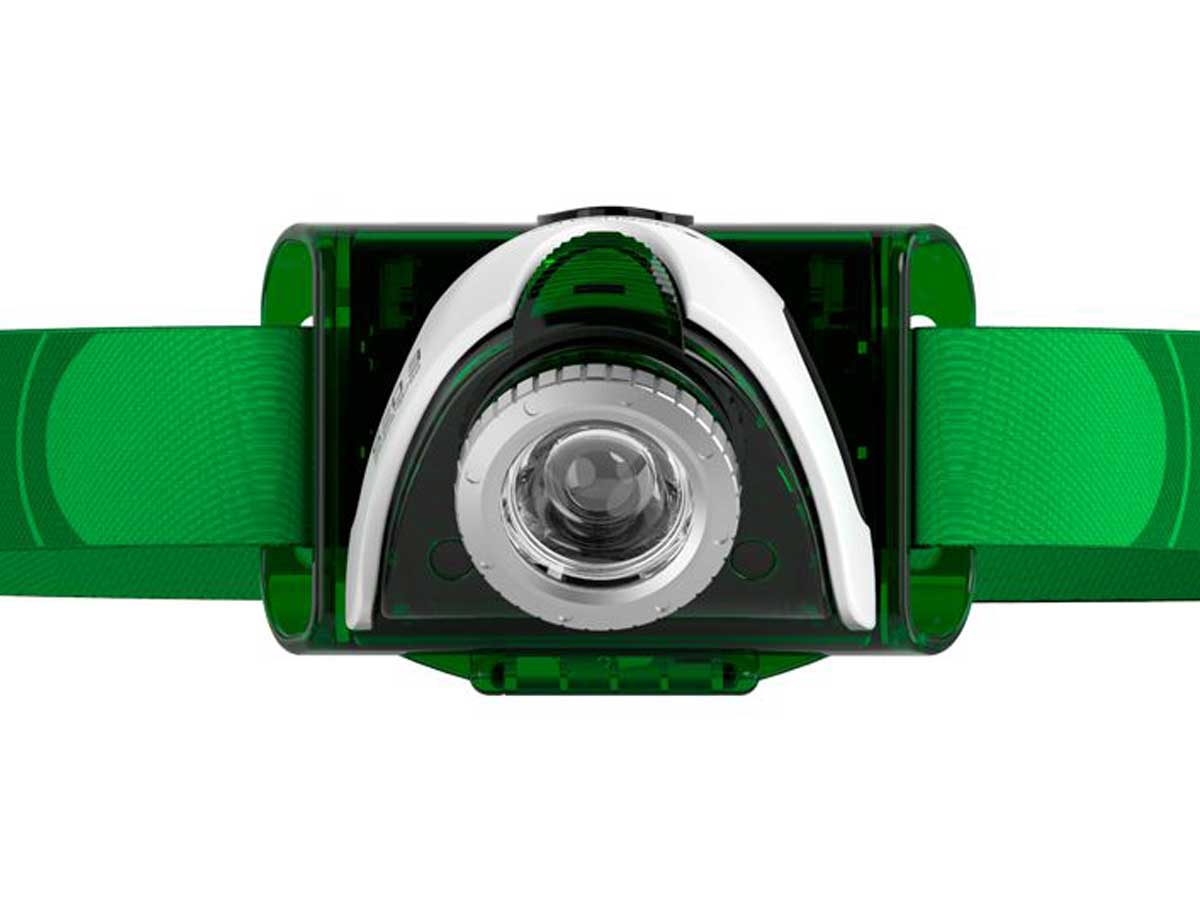 Green LED headlamp with green strap