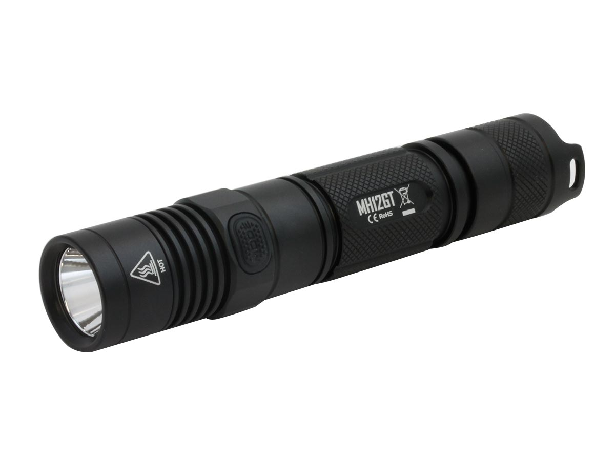 Angle Shot of the Nitecore MH12GT LED Flashlight